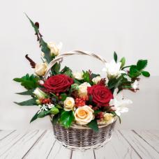 "Авторская корзина ""Roses"" Фото 1"