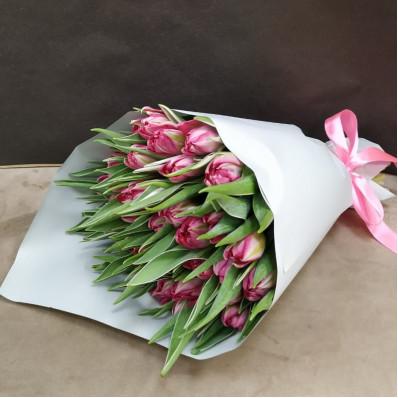 Тюльпаны розовые пионовидные 25 шт. Фото 1