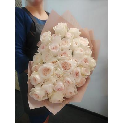 Элитные пионовидные розы с невероятным запахом французских духов Фото 1