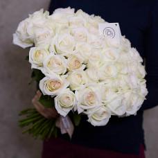 Пионовидная роза White Ohara 70 см. Фото 1